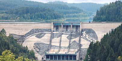 Eibenstock dam -Eibenstock آلمان