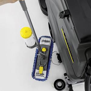 قابلیت حمل تی و تجهیزات نظافتی همراه اسکرابر