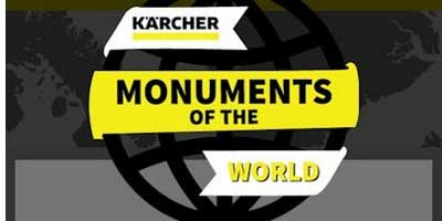 تمیز کردن بنا ها و یاد بود های تاریخی توسط کارچر