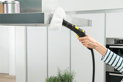 نظافت سطوح فلزی با بخار شو